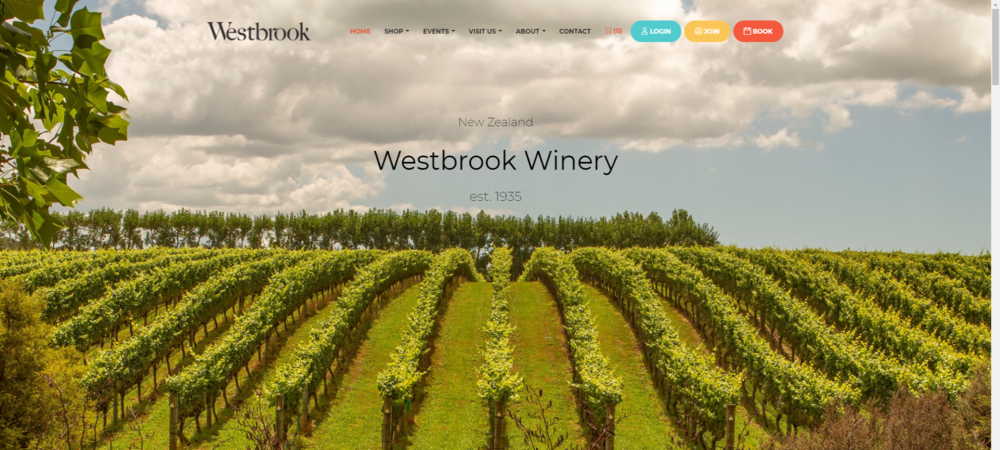Westbrook winery 酒庄 - 新西兰